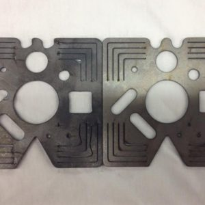 Before and After Cincinnati laser test cuts